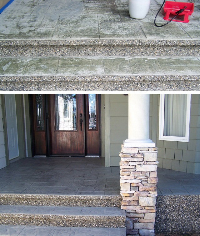 10 pinnacle concrete solutions stamp repair before after.