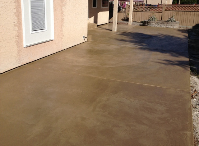 38 pinnacle concrete buff tan overlay