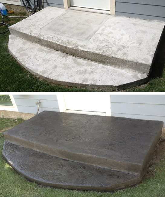 5 pinnacle concrete solutions before after stamp overlay.