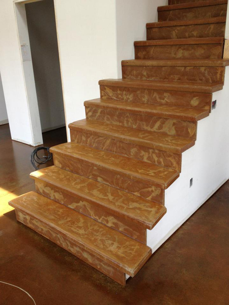 pinnacle concrete cinnamon stairs 1